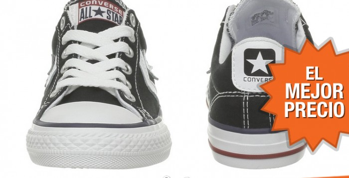 El mejor precio para las Converse de tela Canvas por 25,80€