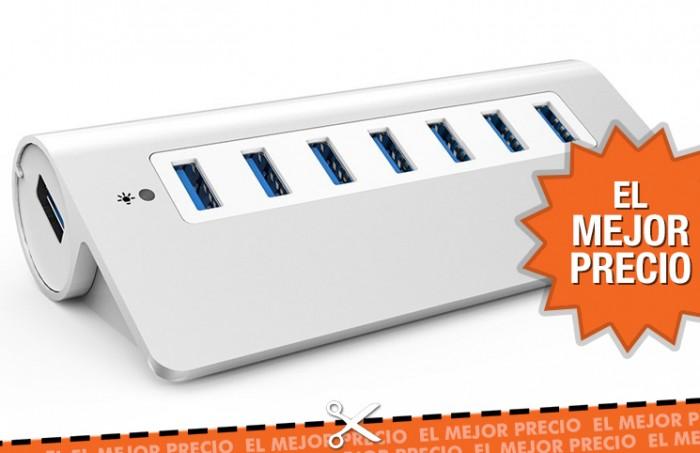 Mejor precio para el Hub USB de 7 puertos Aukey