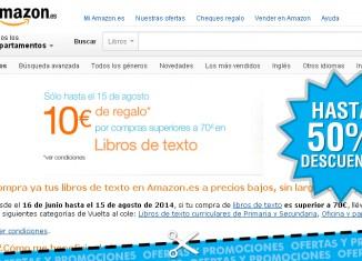 10€ de ahorro en libros de texto en Amazon España