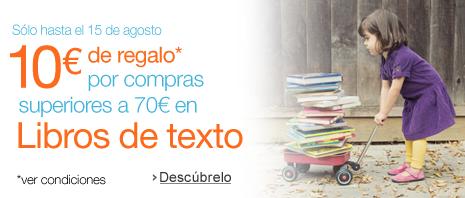Por la compra de 70€ en libros, 10€ de regalo