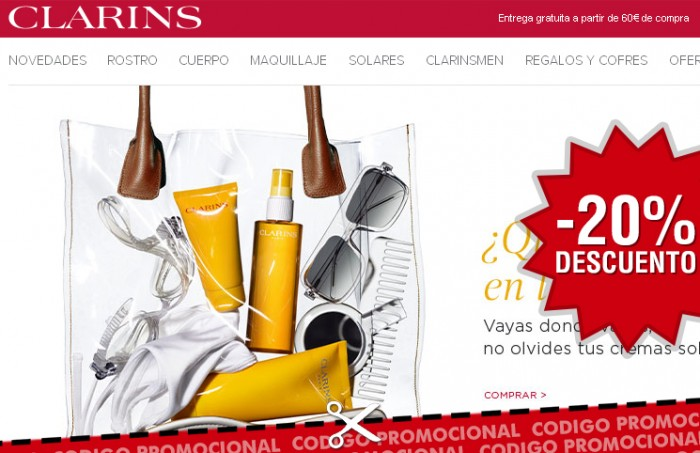 Rebajas en Clarins con su código promocional con -20% de ahorro en maquillaje