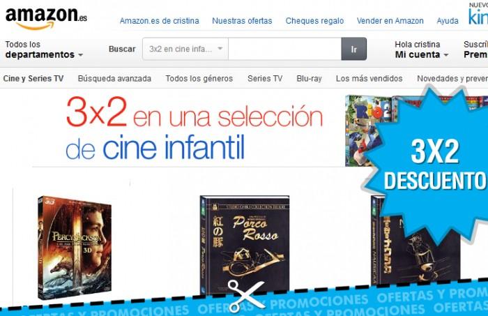 3x2 en cine infantil Amazon España