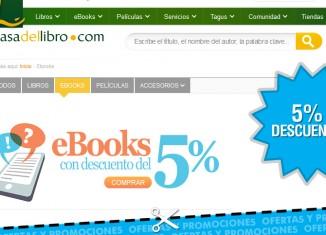 Descuento en Casa del libro en Ebooks