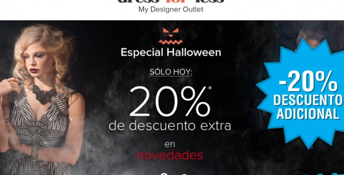 Rebajas de Halloween en Dress-for-less con un 20% descuento adicional