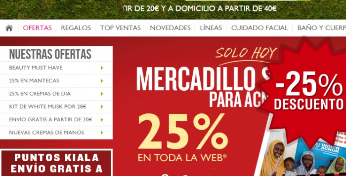 Código promocional solidario de The Body Shop para Acnur