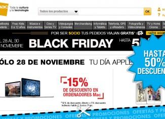 Descuentos en Fnac de hasta un 50% por el Black Friday