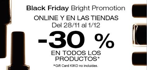 Black Friday en Kiko Cosmetics