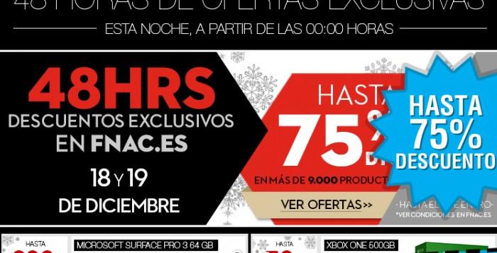 Ofertas de 48 horas en Fnac para comprar en Navidad