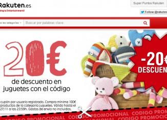 Codigo promocional de Rakuten para regalos de Navidad con 20€ de ahorro