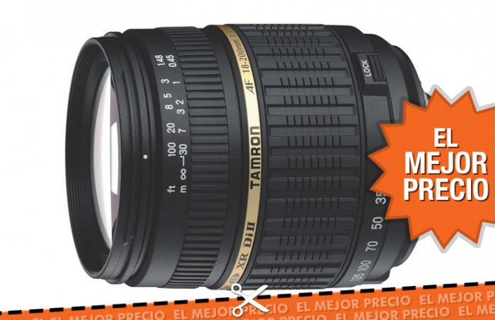 Objetivo Tamron 18-200 mm para cámaras Canon con un descuento del 73%
