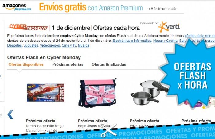 Ofertas flash cada hora en Amazon
