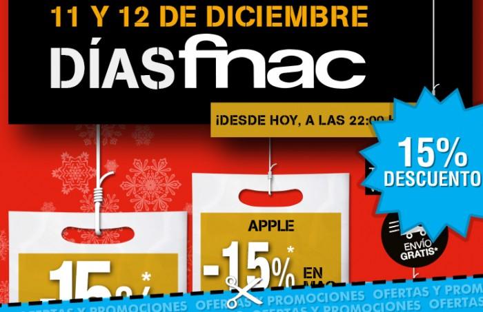 Dias de Fnac con descuento de hasta el 15% en toda a tienda