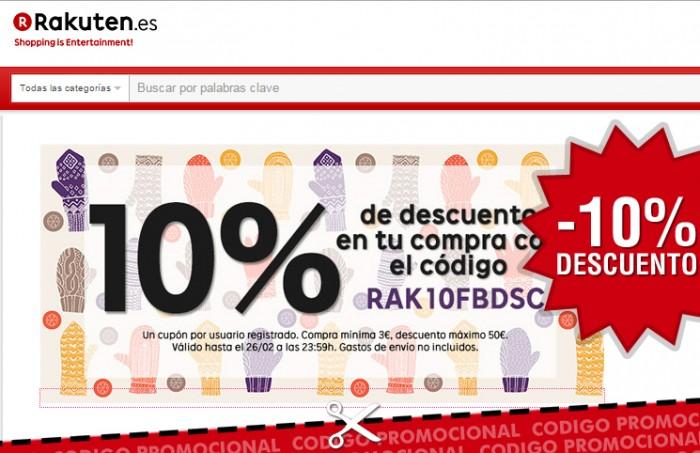 Cupón descuento Rakuten -10%