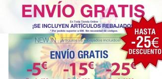 Cupón descuento de hasta -25€ en ropa y envíos gratis