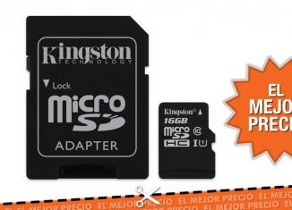 Oferta tarjeta memoria Kingston al mejor precio