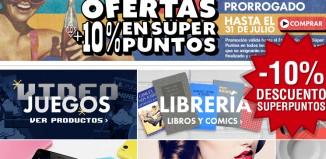 Código promocional con -10% y devolución del 10% en SuperPuntos