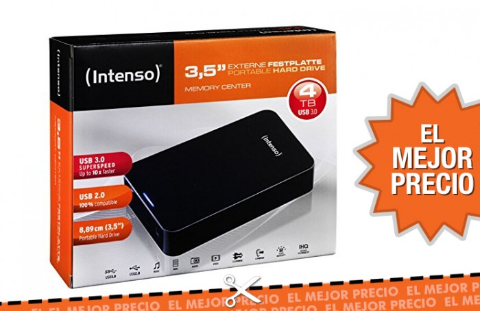 Disco duro externo Intenso Memory Center de 4TB