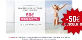 Oferta de Air France con 50€ de descuento