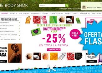 25% descuento en toda la tienda de The Body Shop