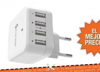 Oferta enchufe de pared múltiple con 4 USB