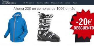 20€ descuento en moda de invierno en Amazon usando el código promocional
