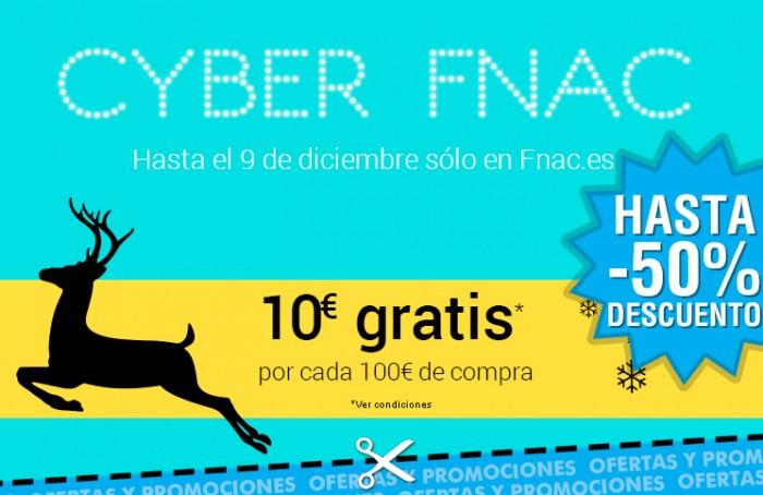 Cyber Fnac con devolución de 10€ por cada 100 de compra y rebajas en seleccionados