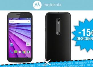 Oferta Motorola Moto G 3º generacion con 15€ descuento