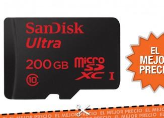 Oferta Tarjeta de memoria SanDisk MicroSDXC de 200GB por sólo 119,25€