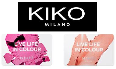 Tarjetas regalo de Kiko Cosmetics