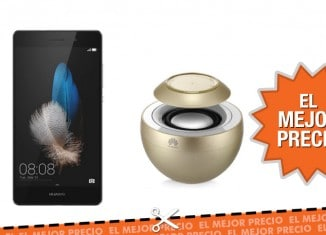 Oferta Huawei P8 Lite + Altavoz portátil AM08 Gold
