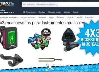 Rebajas de Amazon, 4x3 en accesorios musicales