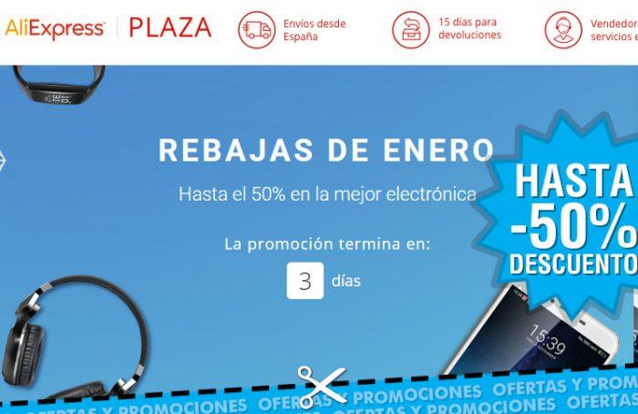 Rebajas de Aliexpress de hasta el 50% en electrónica
