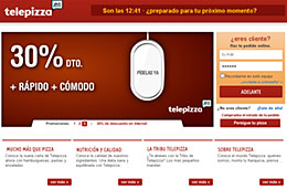 Codigo promocional Telepizza para tener un 35% de descuento en todos los pedidos a través de su web