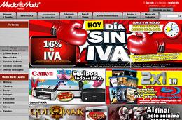 Vuelve el 'Día sin IVA' de Media Markt con un 16% de descuento para casi todos los productos de la tienda, sólo hoy 8-Marzo-2010