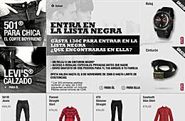 Rebajas especiales Levi's en su tienda online y consigue un reloj o un cinturon Levi's gratis en compras superiores a 130€, válido hasta 9-Noviembre-2009