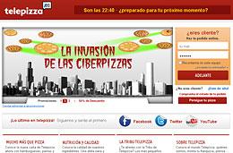 Pizzas a mitad de precio en la 'Invasión de las Ciberpizzas' de Telepizza durante estas semanas y para pedidos online, válido hasta 6-Junio-2010