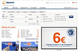Vuelos baratos a Baleares, Canarias, España y Europa con Spanair desde 6 euros