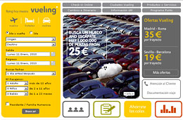 Chollos para volar en Vueling con 1.000.000 de vuelos desde 25€ para volar hasta 22-Junio-2010 y reservando hasta 19-Enero-2010