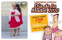 Ya tenemos ganadora de nuestra promoción especial del Día de la Madre 2010 con el premio del cheque-regalo de 250€ para consumir en Hotels.com