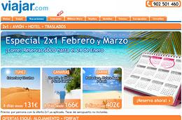 Ofertas de viajes 2x1 a Caribe, 2x1 a Canarias y 2x1 a Túnez en el especial de Viajar.com para reservas hasta 24-Enero-2010