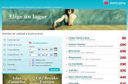 Codigo promocional Hotelopia para tener un 5% de descuento en todas las reservas de hoteles de su portal en exclusiva para PromoCódigos, válido hasta 30-Abril-2010