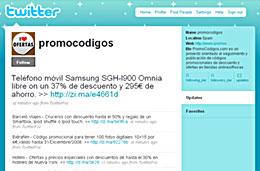 PromoCódigos ahora también en Twitter codigo promocional descuento oferta