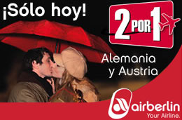 Air Berlin - 2x1 en vuelos a Alemania y Austria sólo durante el día de hoy codigo promocional descuento oferta