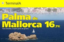 Terminal A - Oferta vuelos a Mallorca codigo promocional descuento