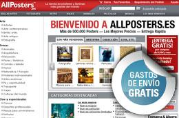 Códigos descuento para All Posters y AllPosters, Gastos de envio gratis