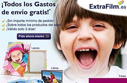 Codigo promocional ExtraFilm para tener gastos de envío gratis en toda su tienda online durante 3 días, válido hasta 26-Mayo-2010
