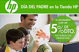 Código promocional HP del 5% de descuento en todos sus productos con motivo del día del padre, válido hasta 19-Marzo-2009