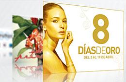 8 días de oro en El Corte Inglés con precios especiales y descuentos en todo su catálogo ocho dias oro