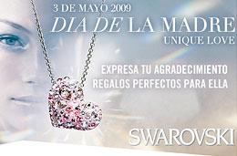Código promocional Swarovski de 10€ de descuento para compras superiores a 100€ con motivo del Día de la Madre, válido hasta 5-Mayo-2009