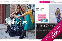 Codigo promocional Kipling para obtener un 10% de descuento en todas las compras de su web